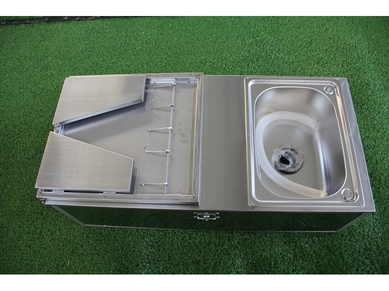 kylin campers stainless steel tailgate kitchen 460842 010