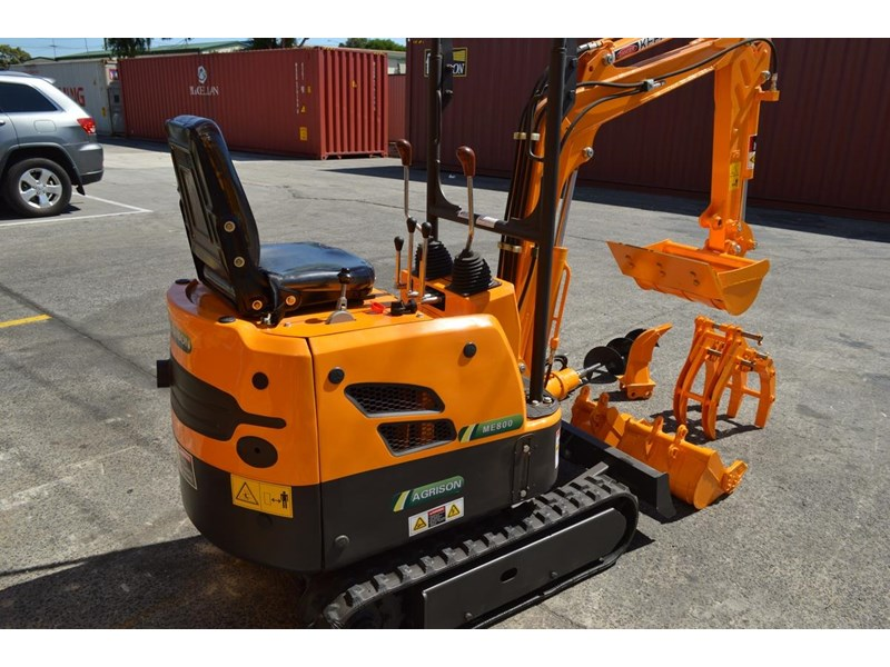 agrison mini excavator free 3x buckets ripper post borer log grabber 474187 002