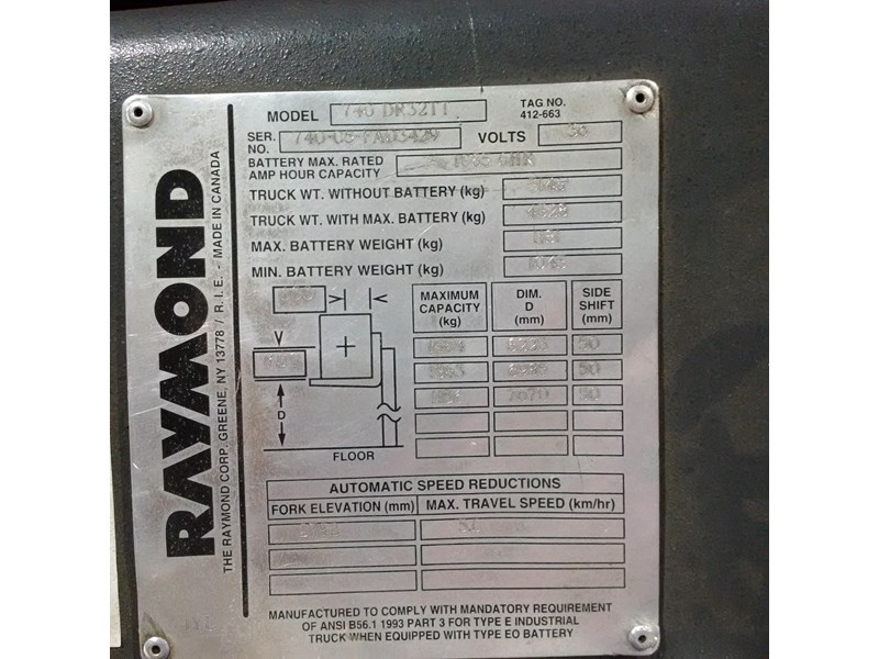 raymond double deep reach truck 477221 005