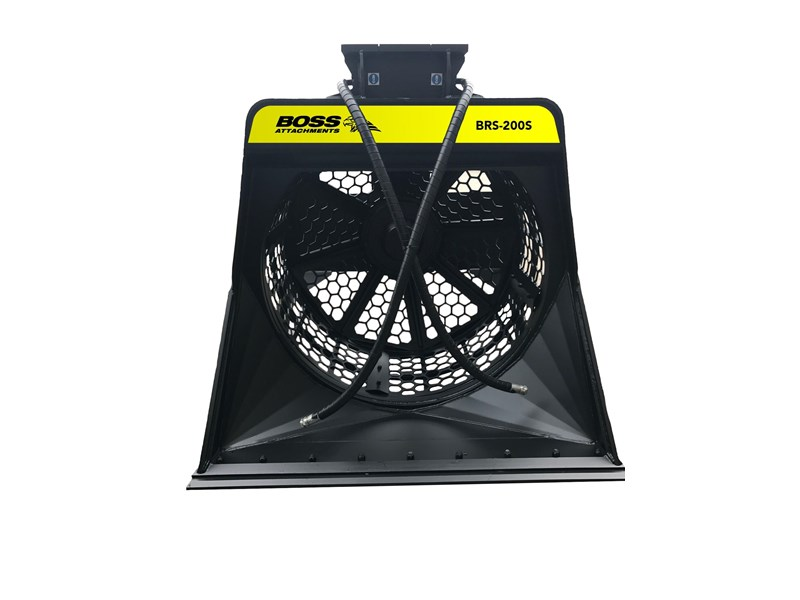 boss attachments brs-120s rotary screening bucket 480011 002