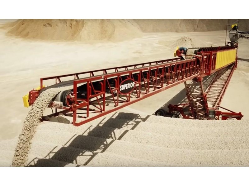 superior industries telestacker conveyor 42m x 800tph. 372521 011