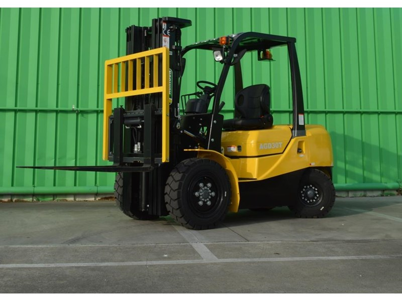 agrison 3 tonne forklift - 3 stage cont. mast - nationwide delivery 505629 001