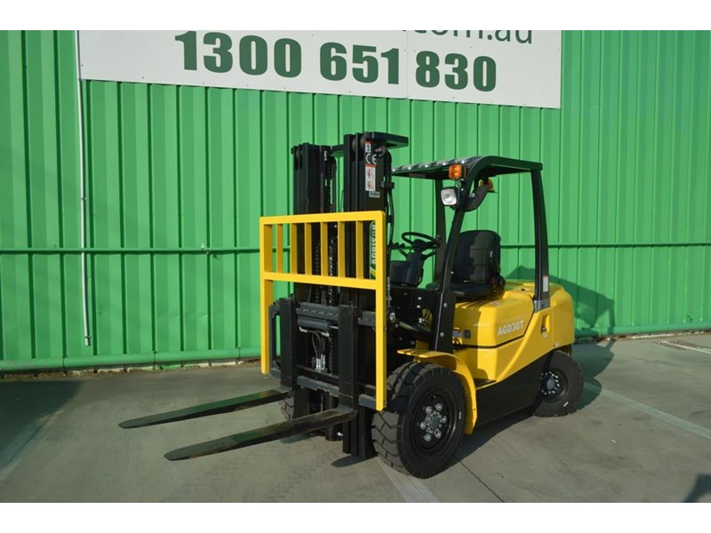 agrison 3 tonne forklift - 3 stage cont. mast - nationwide delivery 505629 008