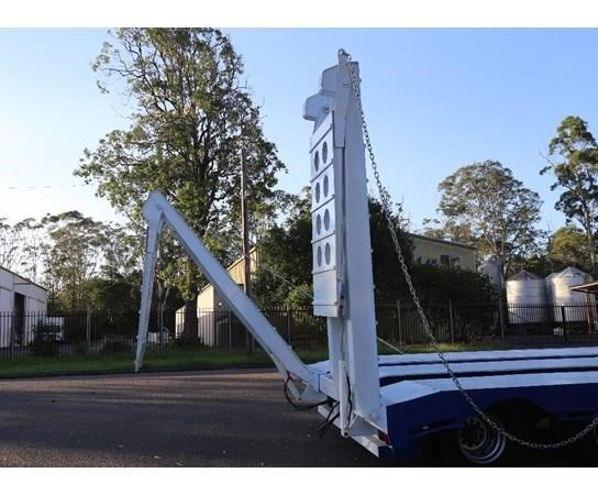 aaa 45' drop deck widener 2.5-3.5m with ramps & spring suspension 505238 003