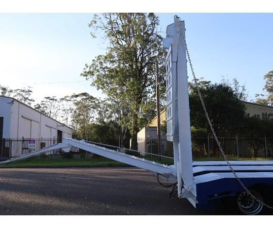 aaa 45' drop deck widener 2.5-3.5m with ramps & spring suspension 505238 005