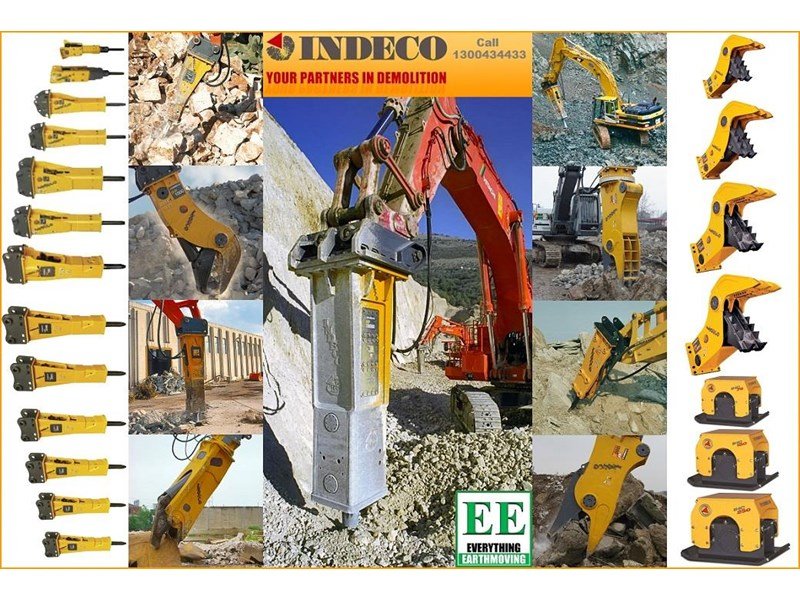 indeco hp200 whisper rock breaker from everything earthmoving 356955 042