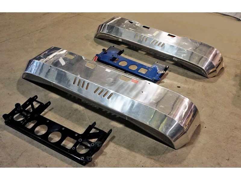 kenworth alloy fups bumper bars - suit cabover k-series 510666 001