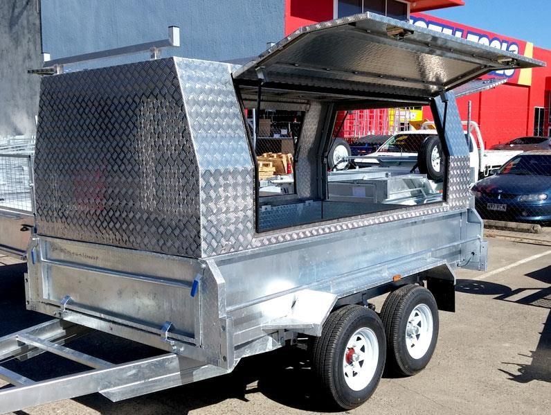 stonegate 10×6 tandem tradesman trailer (aluminium canopy) 534602 003 & STONEGATE 10×6 TANDEM TRADESMAN TRAILER (ALUMINIUM CANOPY) for sale