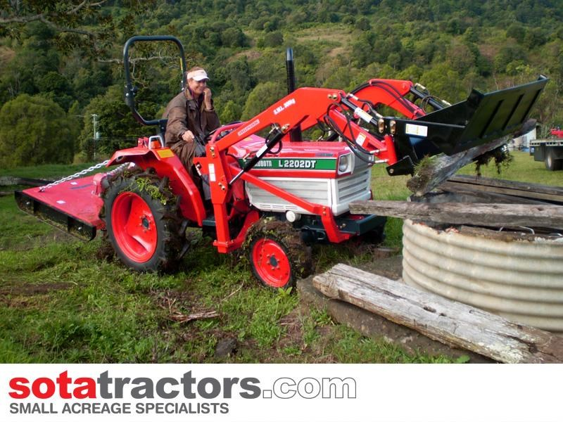 kubota l2202dt tractor with 4 in 1 fel 26hp 57402 014