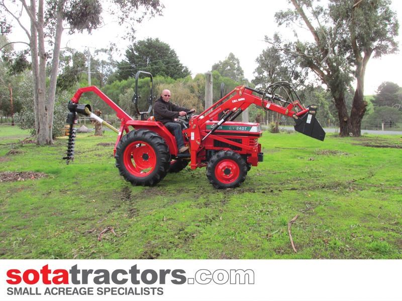 kubota l1-24dt tractor with 4 in 1 fel 28hp 440094 003