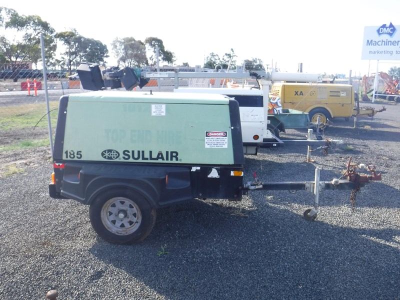 sullair 185 trailer mounted air compressor 477527 002