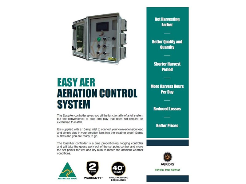 agridry easyaer mobile silo aeration fan controller - new 577026 004
