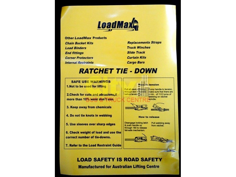 loadmax 'ergo' reverse action ratchet tie downs 592654 006