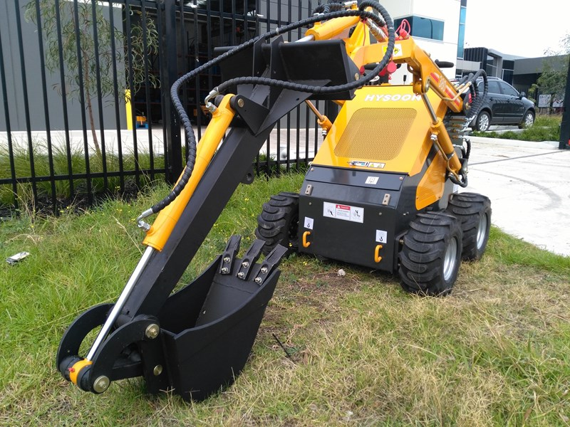 HYSOON BACKHOE STRAIGHT FIXED HEAD FRONT HOE ATTACHMENT FOR
