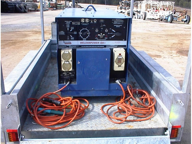 lincoln weldanpower 300+ welder/generator 607260 011