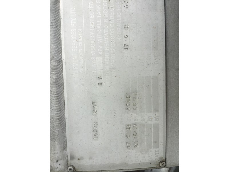 hockney 18600 litre rigid aluminium fuel tank 607793 012