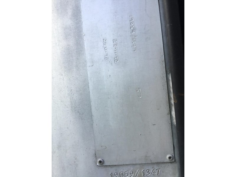 hockney 18600 litre rigid aluminium fuel tank 607793 013