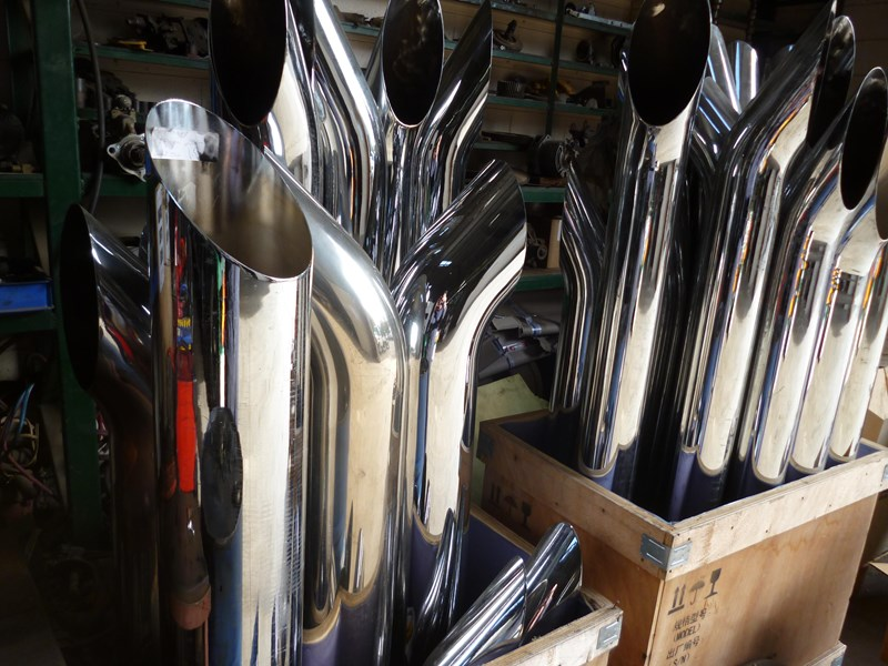 "exhaust pipes 5""x 6""x 7"" 620865 001"