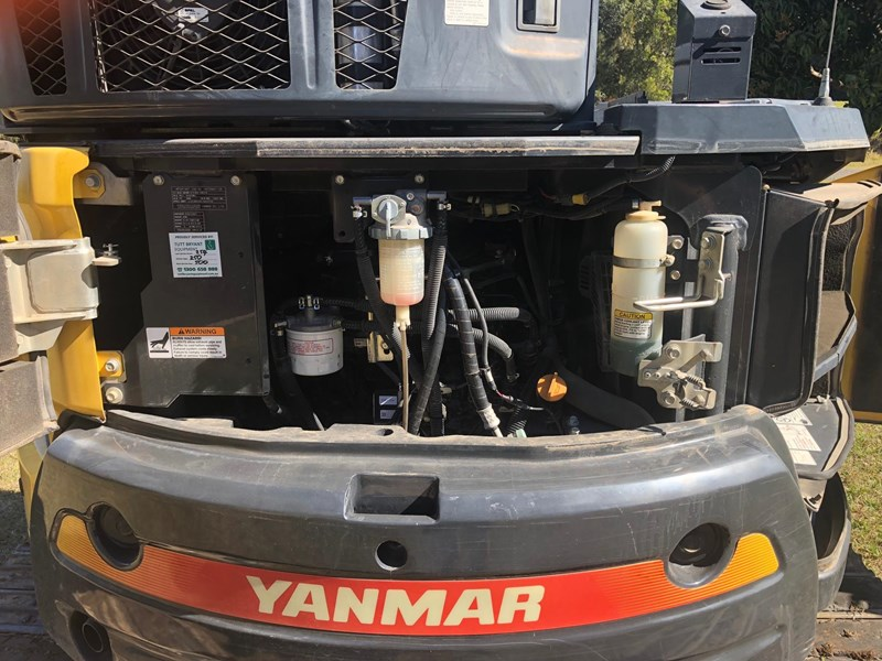 yanmar vio55-6b air cab tilting quick hitch 3,232hrs 632074 021
