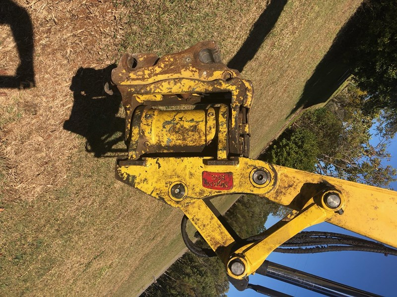 yanmar vio55-6b air cab tilting quick hitch 3,232hrs 632074 015