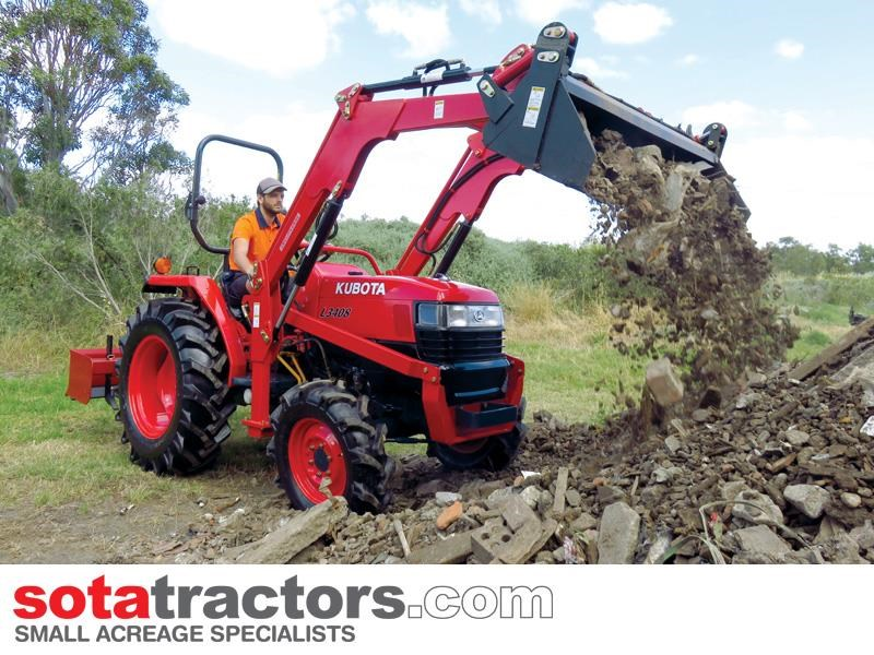 kubota l3408dt tractor + 4 in 1 loader + backhoe 646110 003