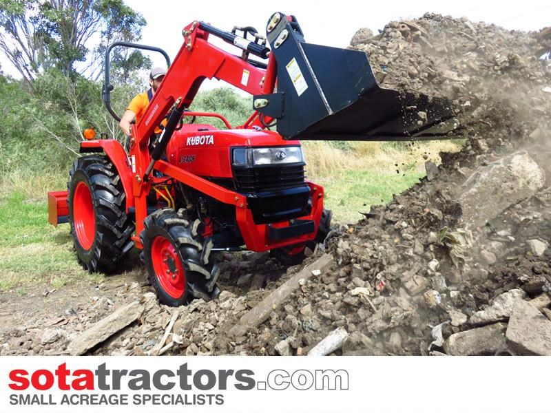 kubota l3408dt tractor + 4 in 1 loader + backhoe 646110 007