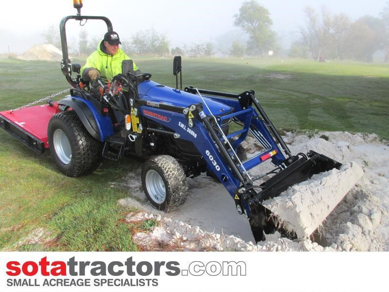 farmtrac 28hp tractor + 4 in 1 loader + backhoe 646140 010