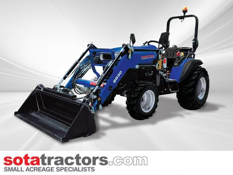farmtrac 28hp tractor + 4 in 1 loader + backhoe 646140 012