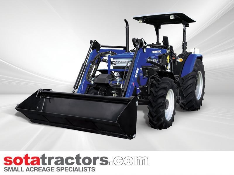 farmtrac 87hp tractor + 4 in 1 loader + backhoe 646189 027