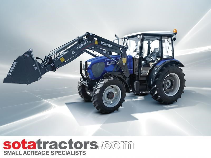 farmtrac 75hp cab tractor + 4 in 1 loader + backhoe 646202 008