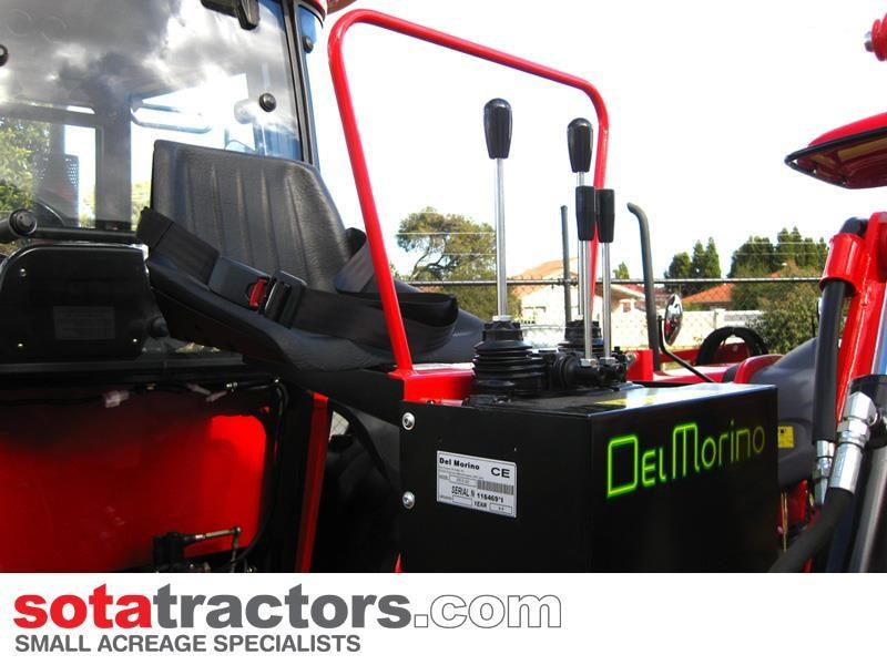 farmtrac 75hp cab tractor + 4 in 1 loader + backhoe 646202 019