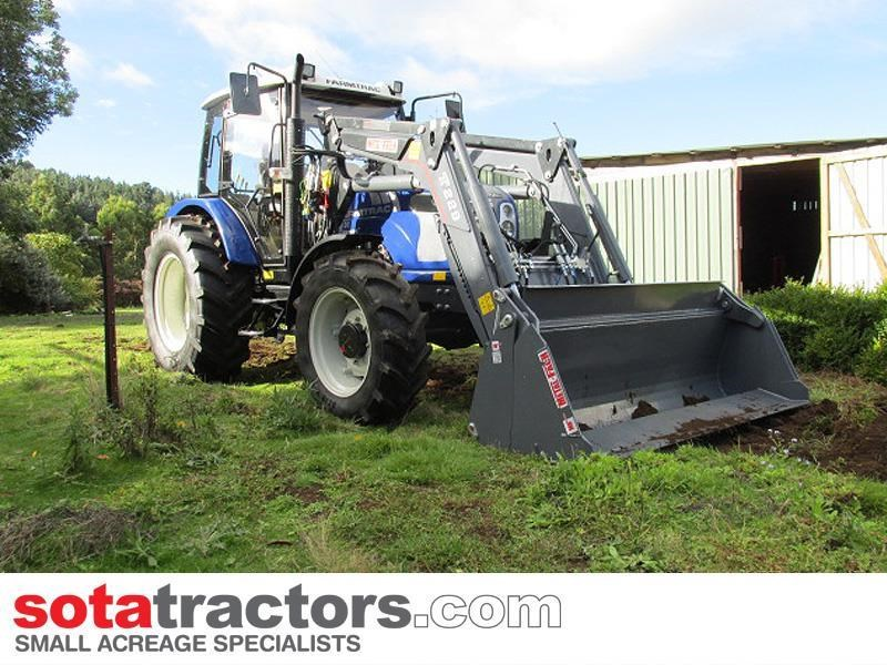 farmtrac 90hp cab tractor + 4 in 1 loader + backhoe 646220 009
