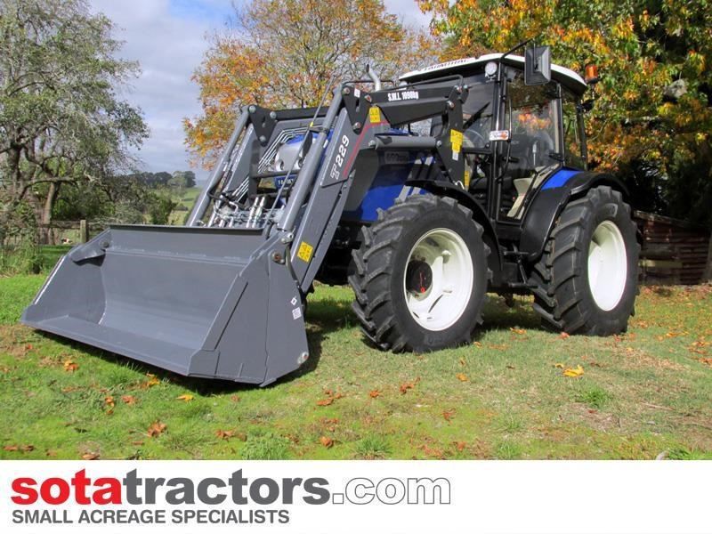 farmtrac 90hp cab tractor + 4 in 1 loader + backhoe 646220 011