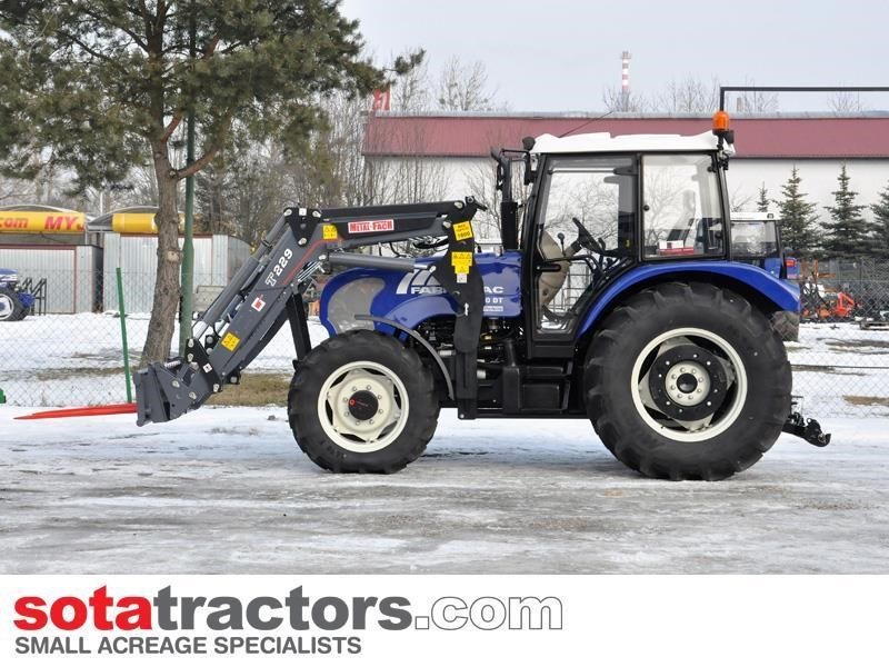 farmtrac 90hp cab tractor + 4 in 1 loader + backhoe 646220 029