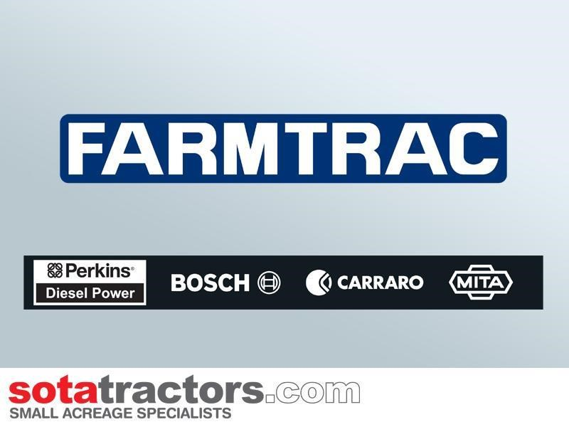 farmtrac 90hp cab tractor + 4 in 1 loader + backhoe 646220 030