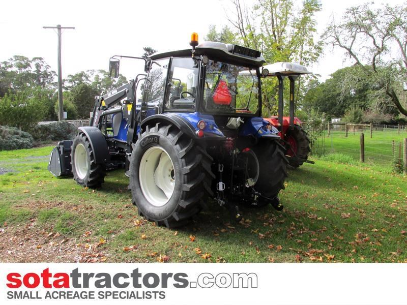 farmtrac 90hp cab tractor + 4 in 1 loader + backhoe 646212 012