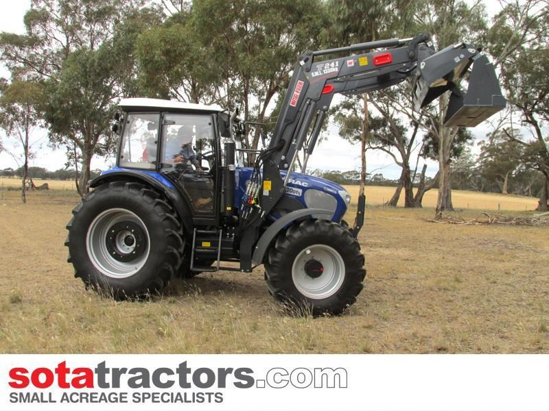 farmtrac 110hp cab tractor + 4 in 1 loader + backhoe 646221 004