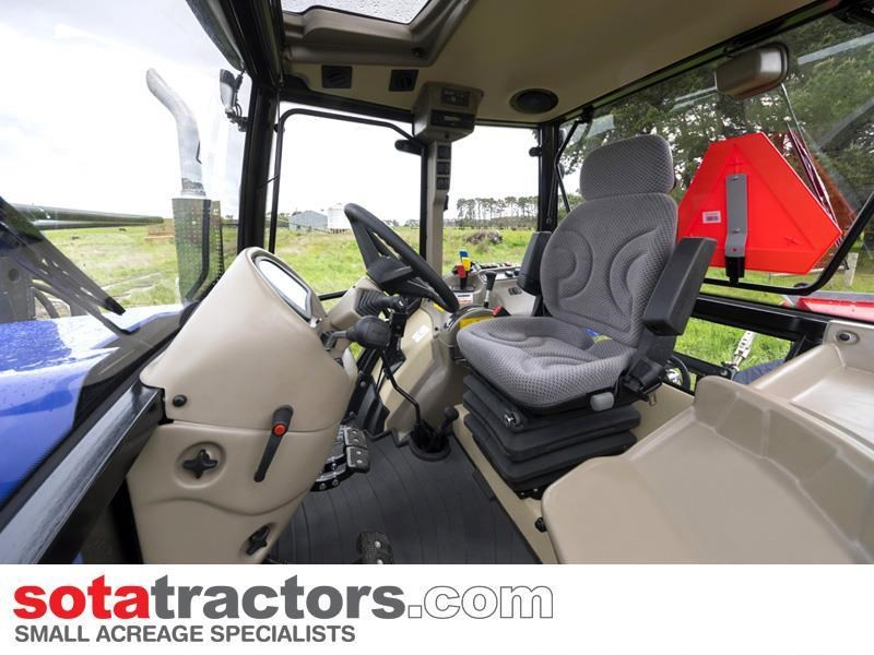 farmtrac 110hp cab tractor + 4 in 1 loader + backhoe 646221 005