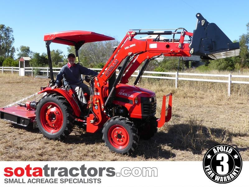 apollo 25hp tractor + 4 in 1 loader + backhoe 646224 006