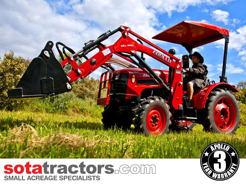 apollo 25hp tractor + 4 in 1 loader + backhoe 646224 008