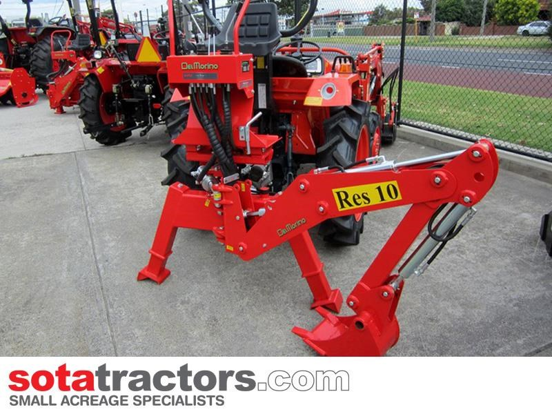 apollo 25hp tractor + 4 in 1 loader + backhoe 646224 024