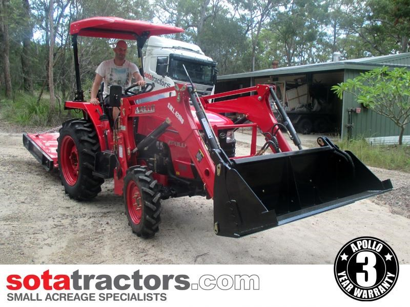 apollo 35hp tractor + 4 in 1 loader + backhoe 646229 009