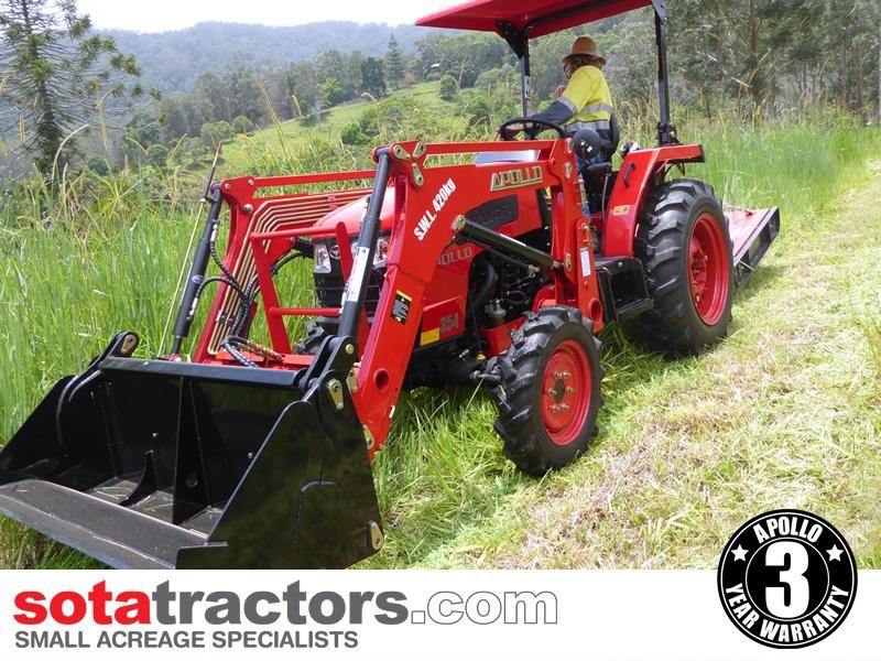 apollo 35hp tractor + 4 in 1 loader + backhoe 646229 007