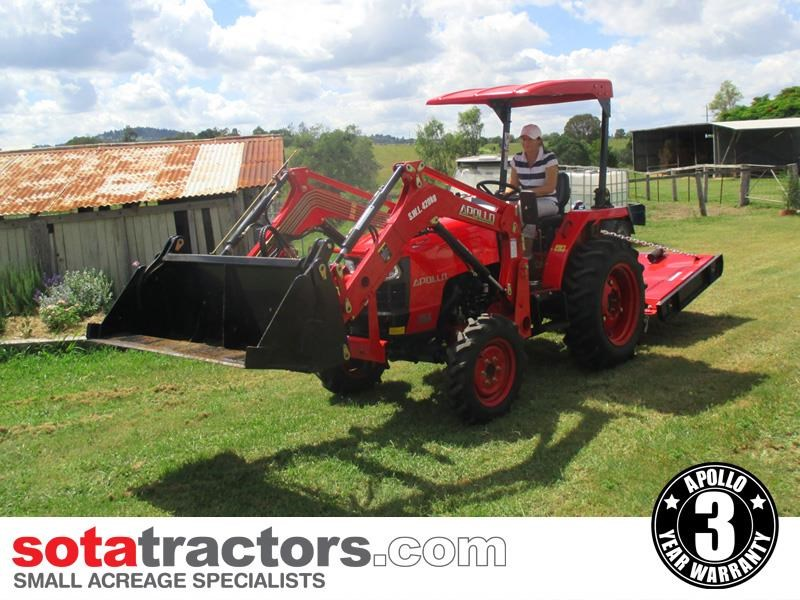 apollo 35hp tractor + 4 in 1 loader + backhoe 646229 011
