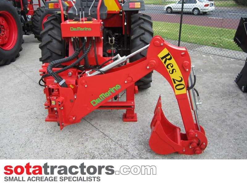 apollo 35hp tractor + 4 in 1 loader + backhoe 646229 018