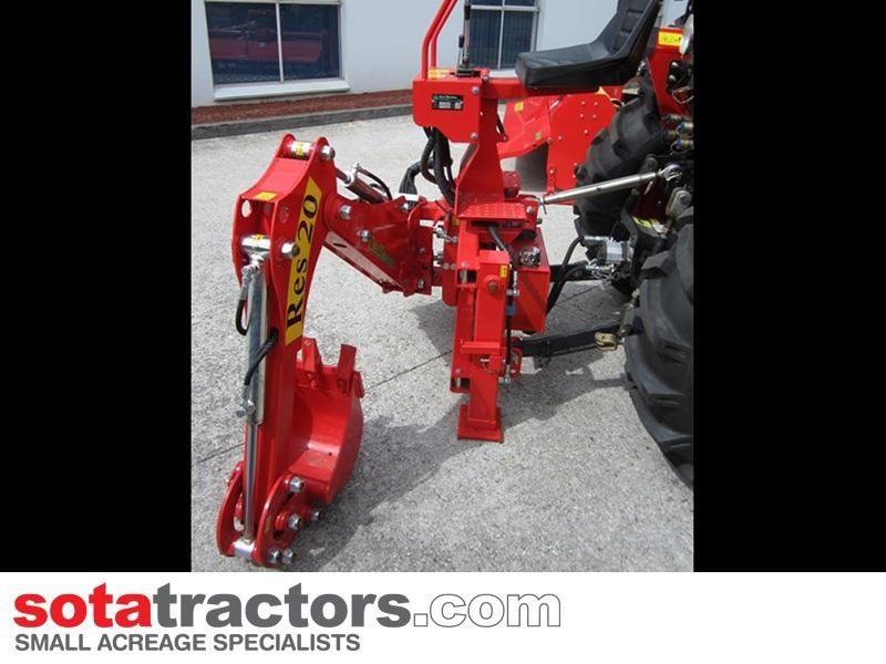 apollo 35hp tractor + 4 in 1 loader + backhoe 646229 021