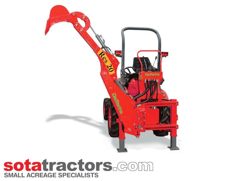 apollo 35hp tractor + 4 in 1 loader + backhoe 646229 014
