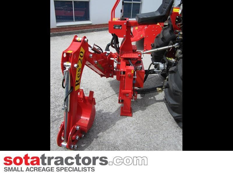 apollo 35hp tractor + 4 in 1 loader + backhoe 646247 021