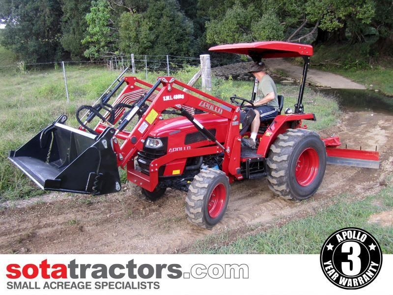 apollo 45hp tractor + 4 in 1 loader + backhoe 646460 006