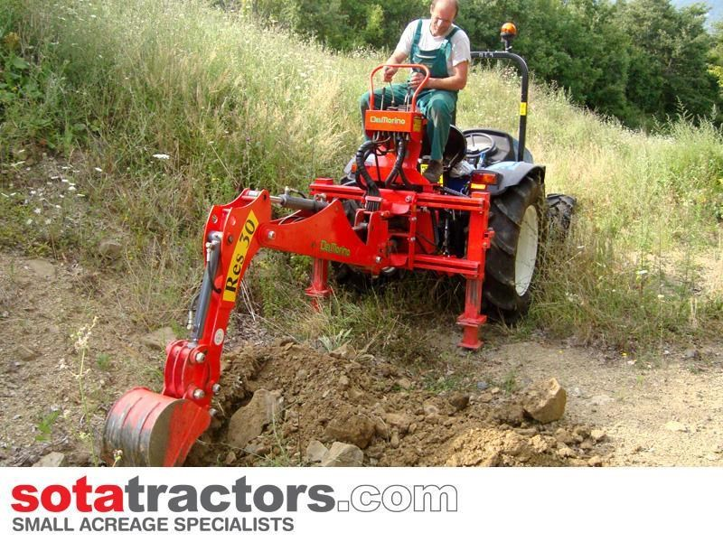 apollo 45hp tractor + 4 in 1 loader + backhoe 646460 016